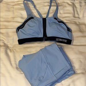 Gorgeous Carolina Blue bra and leggings